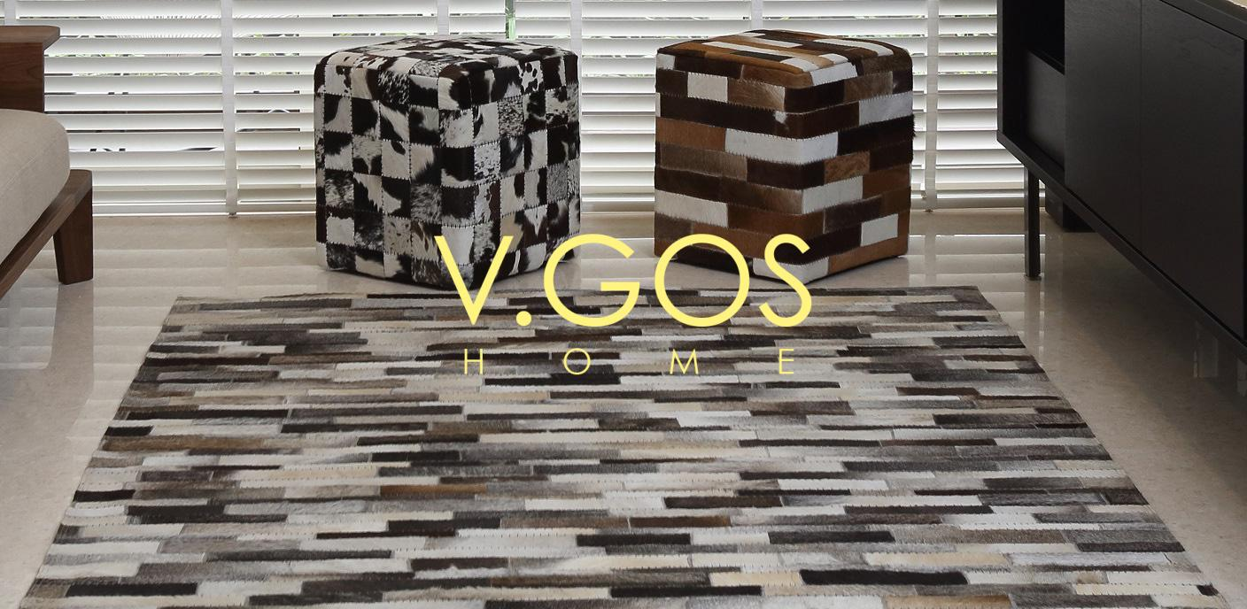 Carpet and stool in cowhide