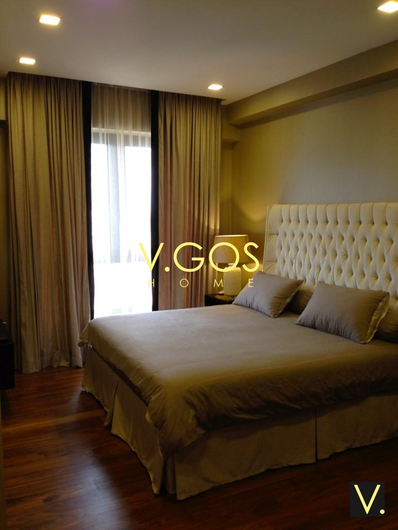 Night Curtain With Border With Day Curtain And Bed Skirt