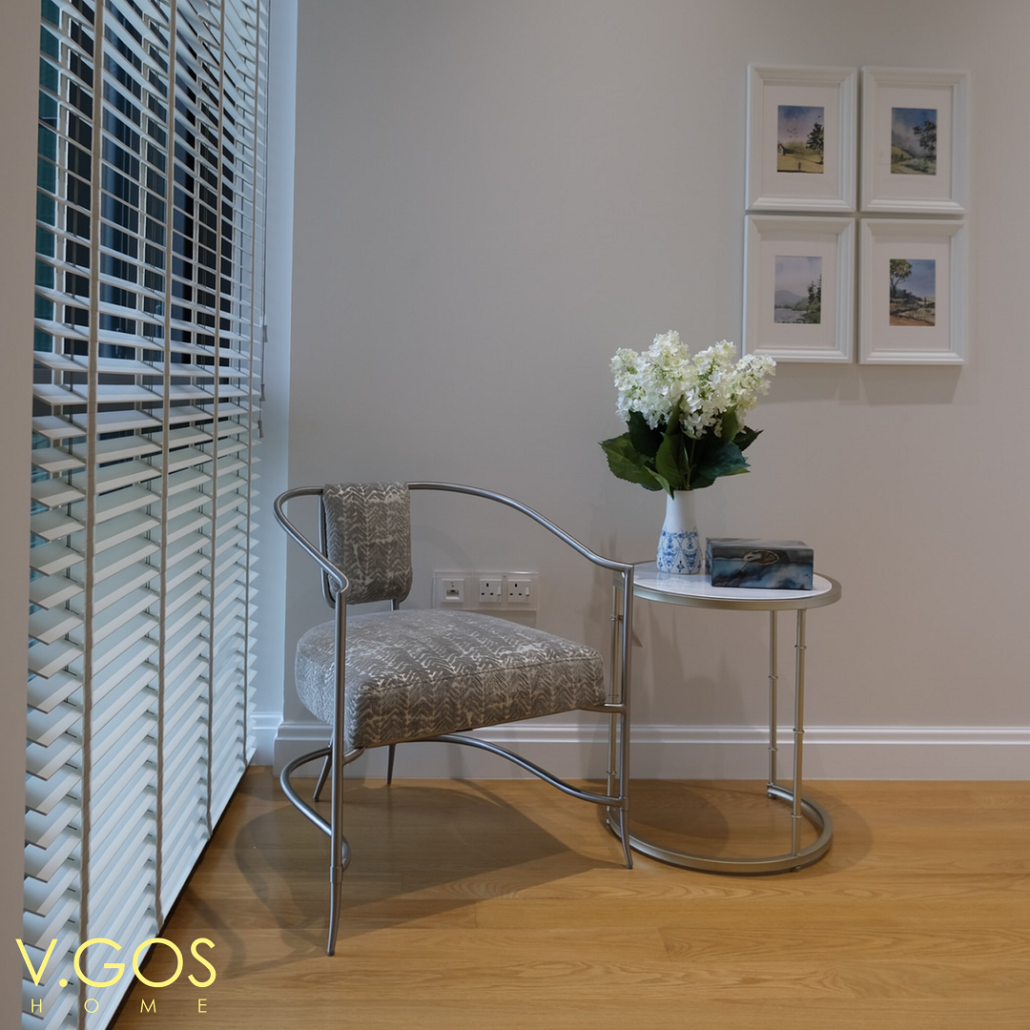Wooden blinds with woven tape in manual system - Marina One Residences - VGOSHome Singapore