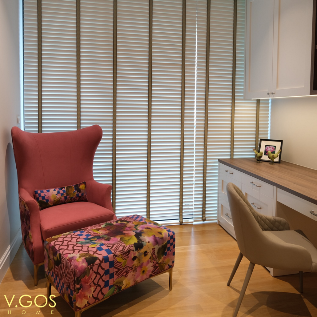 vgoshome - Wooden blinds with woven tape with motorised system - Marina One Residences - Singapore